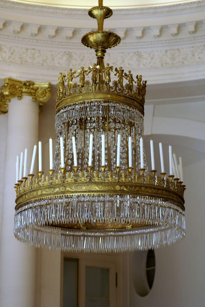 Berlin, Schloss Charlottenburg, Kronleuchter (Charlottenburg Palace, chandelier)