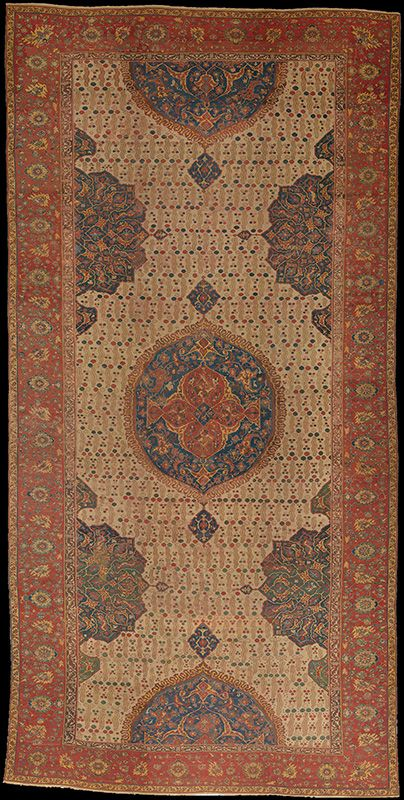 Ushak Medallion carpet on white ground, Turkey, late 16th/early 17th century (~Ahmed I-Murad IV Period). The Metropolitan Museum of Art, New York