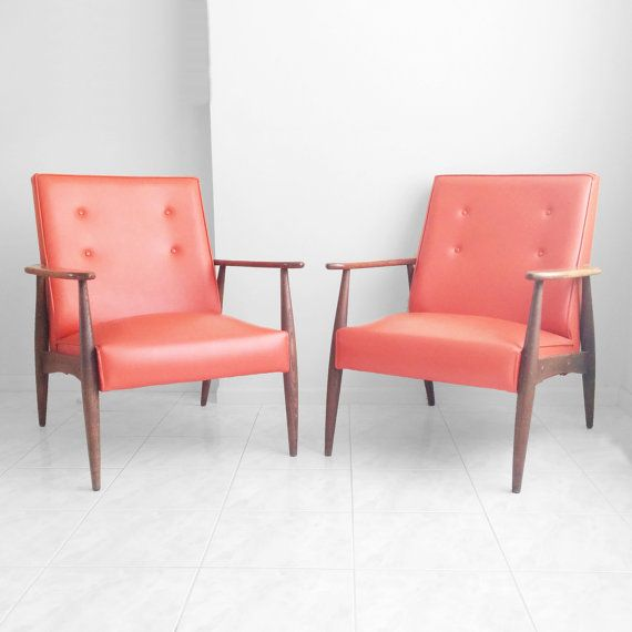 a pair of mid century modern chairs have retro charm - Mid Century Modern Furniture Of The 1950s