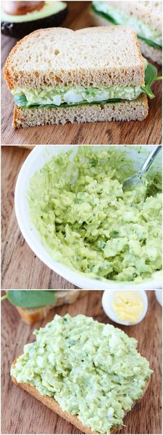 Avocado Egg Salad Recipe - We don't really eat eggs, but this could be perfect for someone!