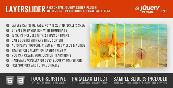 LayerSlider #Responsive #javascript #jQuery Slider Plug-in for your #WordPress Theme