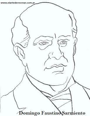 Dibujos de Domingo Faustino Sarmiento para colorear o pintar.   RECREAR…
