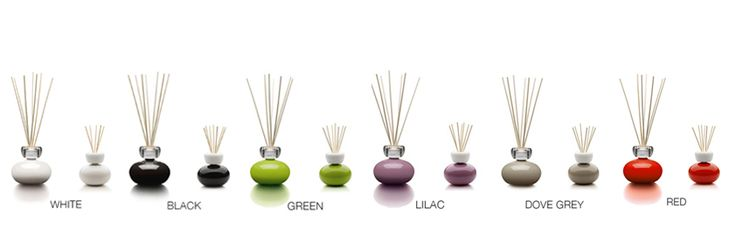 Ginger & Baby Ginger Available white, black, green, lilac, dove grey and red Suitable to use in your home with the variety of 23 fragrances in the Easy refill range.