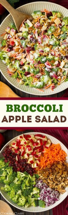 Broccoli Apple Salad. A crowd pleaser! | Cooking Classy