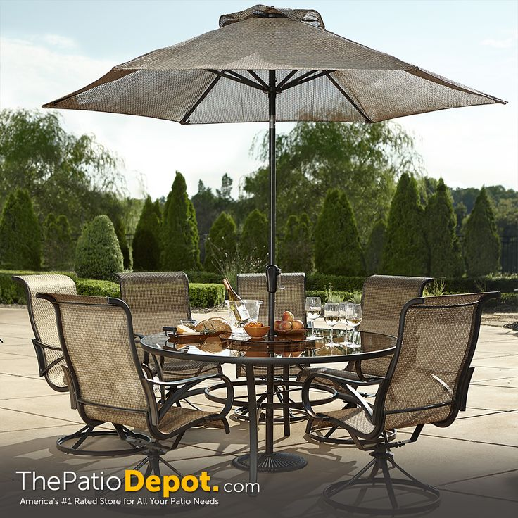 Patio dining collection available at #thepatiodepot