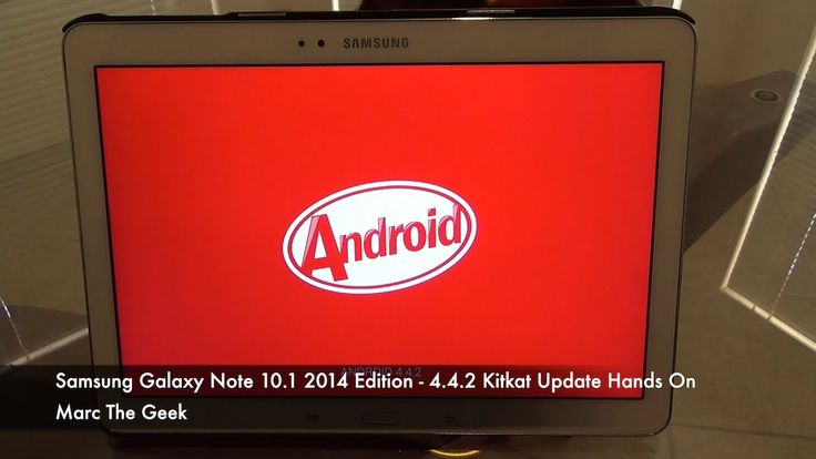 Samsung Galaxy Note 10.1 2014 Edition - 4.4.2 Kitkat Update Hands On