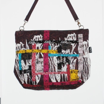 Unique Art Handbag  collage work