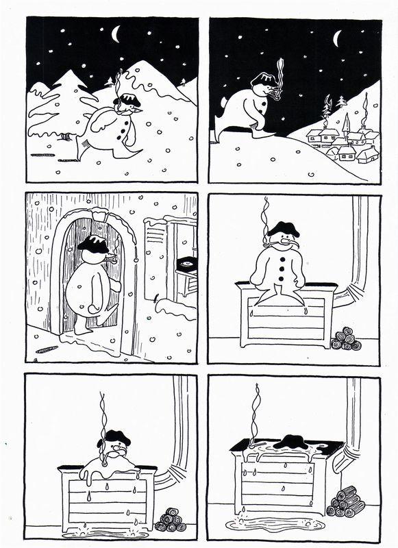 Le bonhomme de neige / Prévert