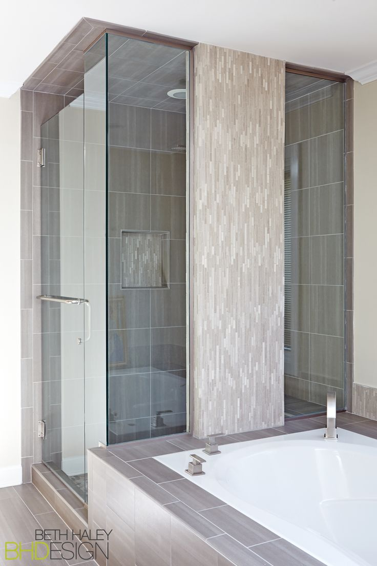 Master Bathroom with unique shower enclosure