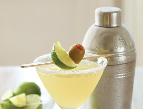 Applebee's Perfect Margarita  1 1/4 ounce Cuervo 1800 tequila  1/2 ounce Cointreau  1/2 ounce grand Marnier  1 1/2 ounce lime juice  4 ounces sweet and sour mix  1/2 ounce simple syrup  ***Garnish***