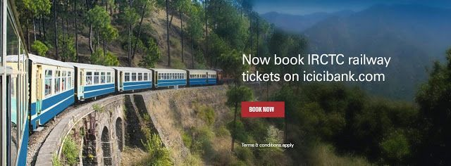New Offer - Book IRCTC Railway Tickets On Icici Bank and Get Rs.100 Cashback