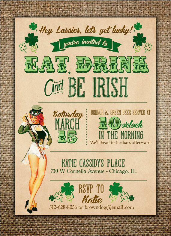 Remove hey lassies- add an Irish blessing,-Irish Theme Hen Party Invitation #henpartyinvitation #bachelorettepartyideas #irishtheme