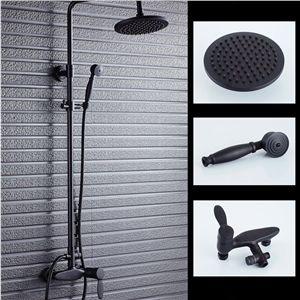 レインシャワーシステム シャワーバー バス蛇口 ヘッドシャワー+ハンドシャワー 混合栓 ORB