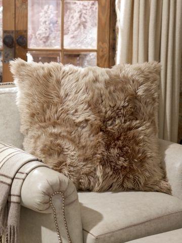Alpine Lodge Shearling Pillow - Ralph Lauren Home Throw Pillows - RalphLauren.com