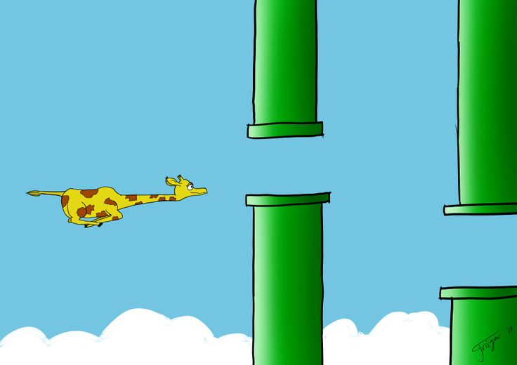Flappy Giraffe... both Flappy bird and the giraffe Marius died on us. Now we can remember both