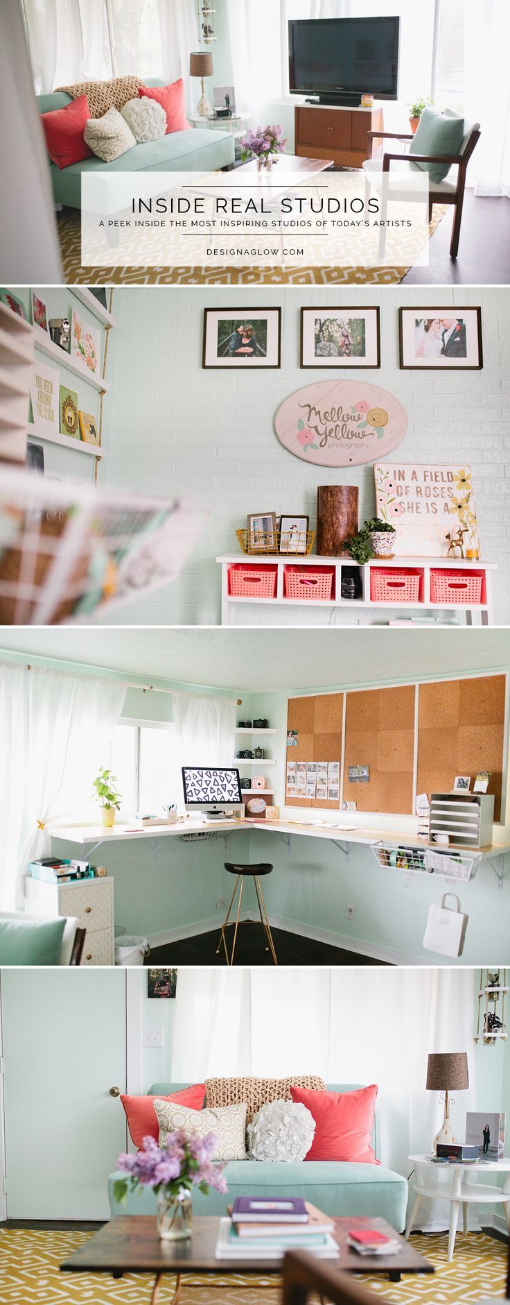 Inside the inspiring Photography Studio of Mellow Yellow Photography.