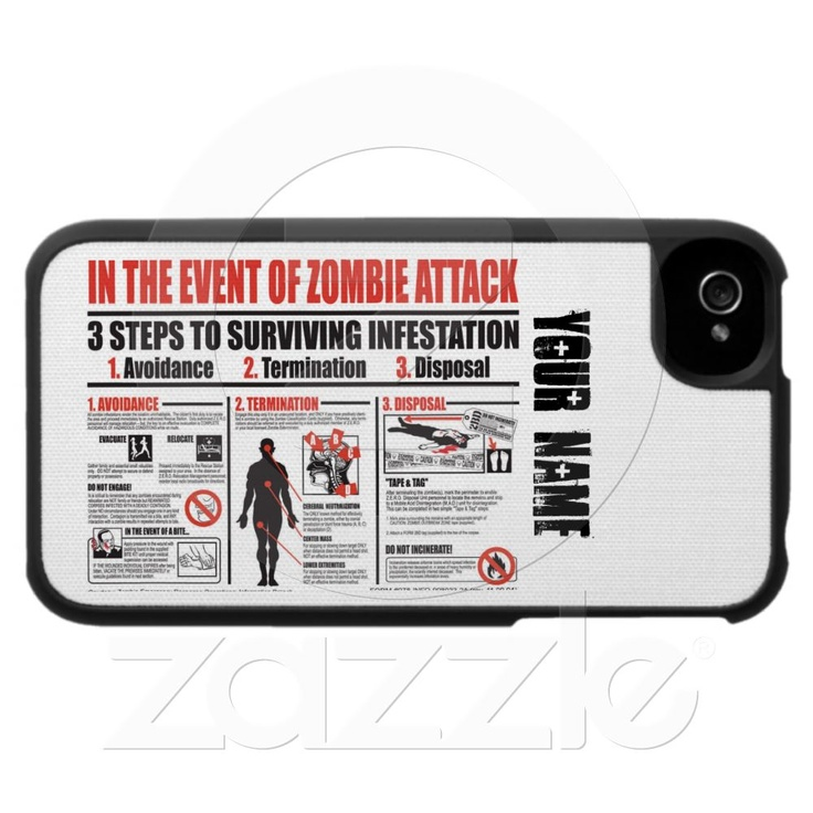 IN THE EVENT OF A ZOMBIE ATTACK iphone case. Perfection