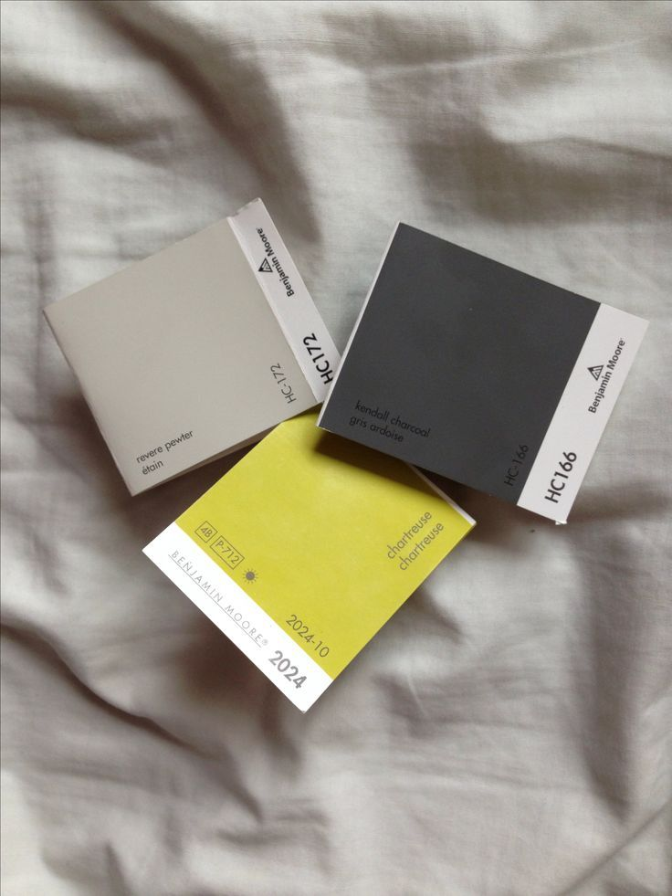 modern colour scheme • revere pewter HC-172, kendall charcoal HC-166, chartreuse 2024-10 • benjamin moore • katelyn gilleno - colour consults, ...