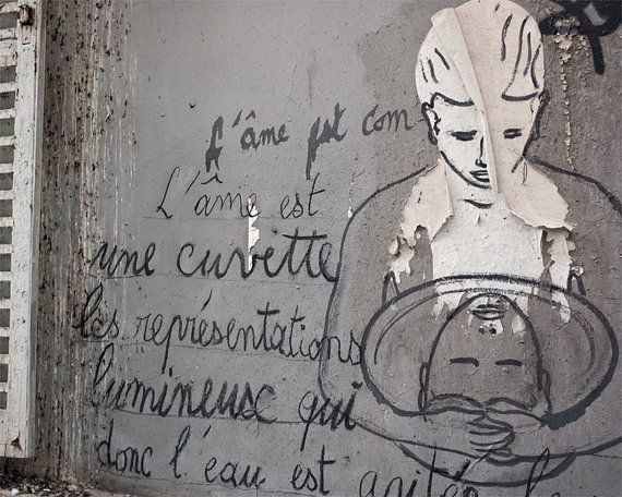 Paris Photography Montmartre Graffiti Paris by TheParisPrintShop