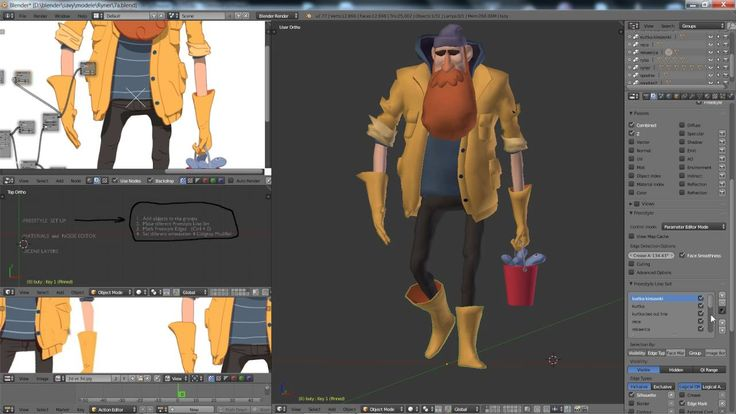 3d Character Design Tutorial Blender : Best blender d images on pinterest tutorial