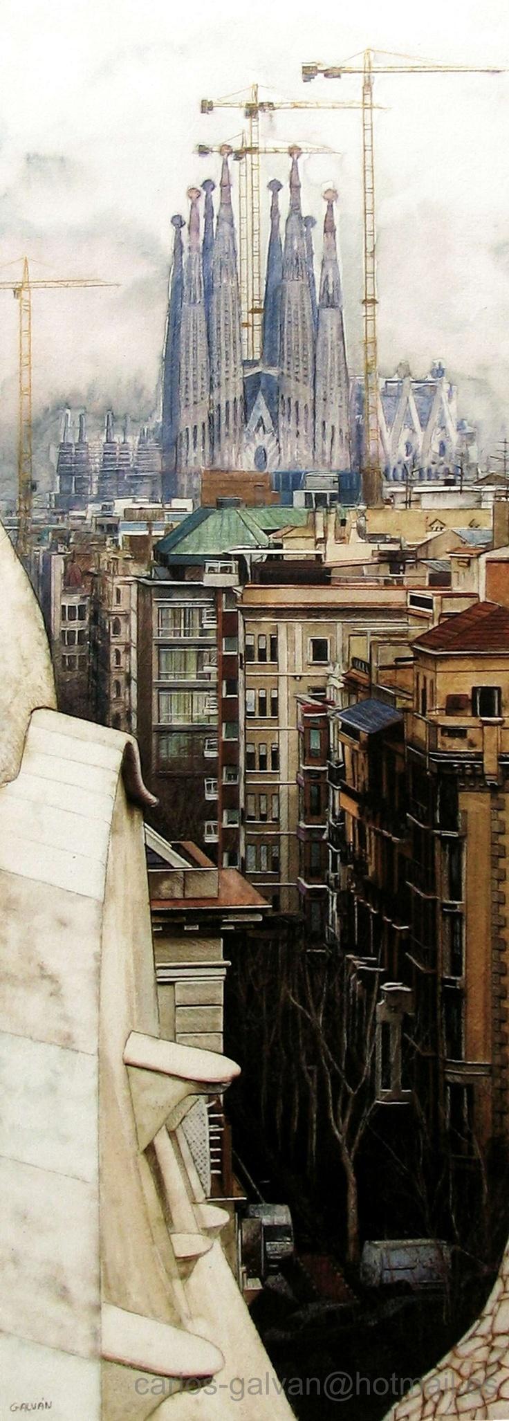 """Spain -  """"La Sagrada Familia"""" by Carlos Galván"""