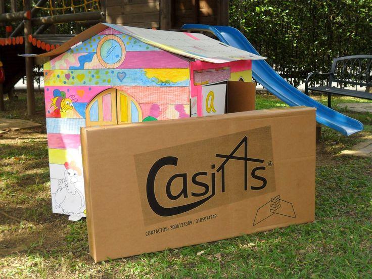 Guarda la casita cuando terminen de jugar o pintar
