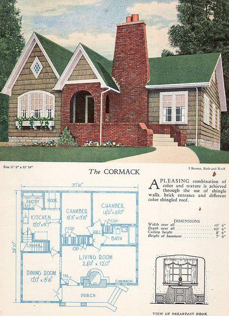 298 best vintage homes images on pinterest | floor plans, vintage