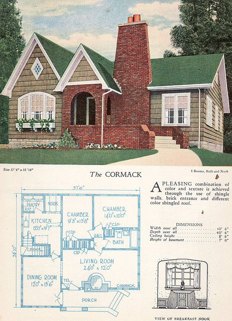 1928 home builders catalog the cormack floor plans