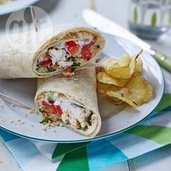 Roast chicken and couscous wrap @ allrecipes.co.uk