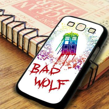 Paint Art Tardis Doctor Who Bad Wolf Samsung Galaxy S3 Case