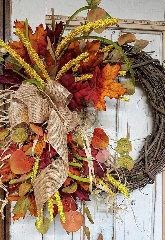 This Beautiful Fall Front Door Wreath Is The Perfect Simple Accent