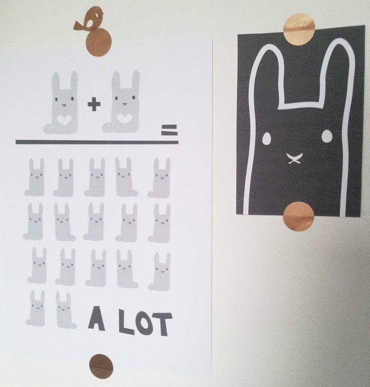 grappige #posters - set 6 st #rabbit | Tis Lifestyle: the official website