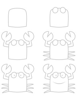 How To Draw A Crab. I'm 12 And I Didn't Think It Was THAT Simple!