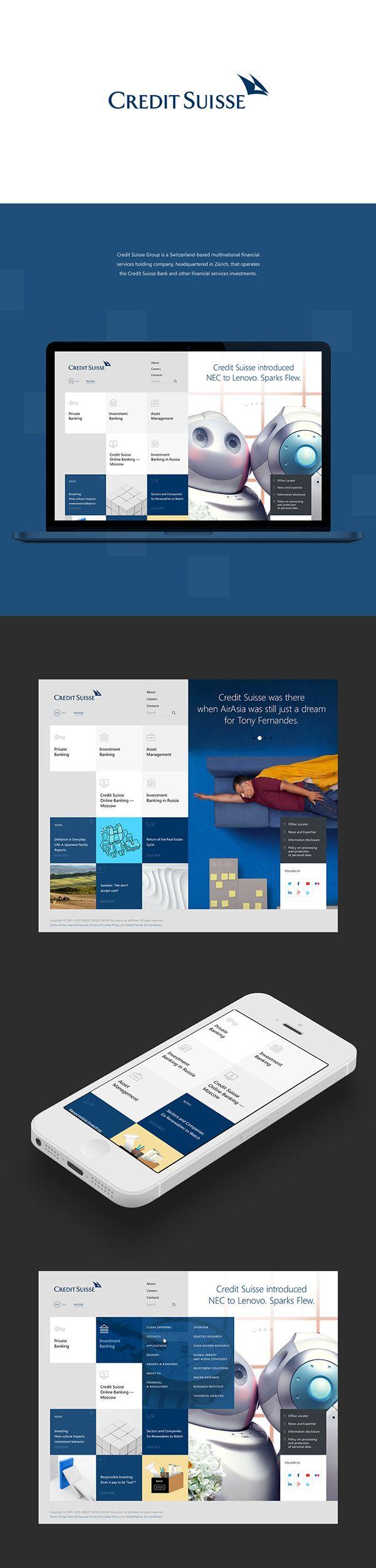 Credit Suisse on Web Design Served