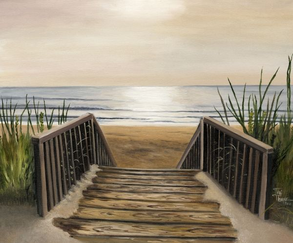 ღღ  The Beach Painting - The Beach Fine Art Print - Toni Thorne