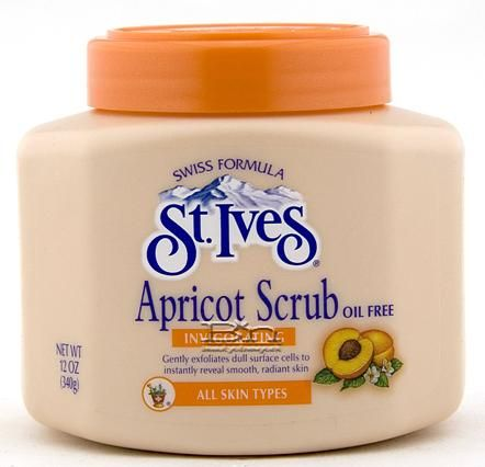 23 Throwback Beauty Products You Totally Used as a Teen - ST. IVES APRICOT SCRUB - Growing up, it seemed like everyone had this little orange tub next to their sink. Though there are now gentler ways to exfoliate your skin, you'll never forget your first scrub.