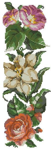 Border of flowers antique digital pattern for by Smilylana on Etsy