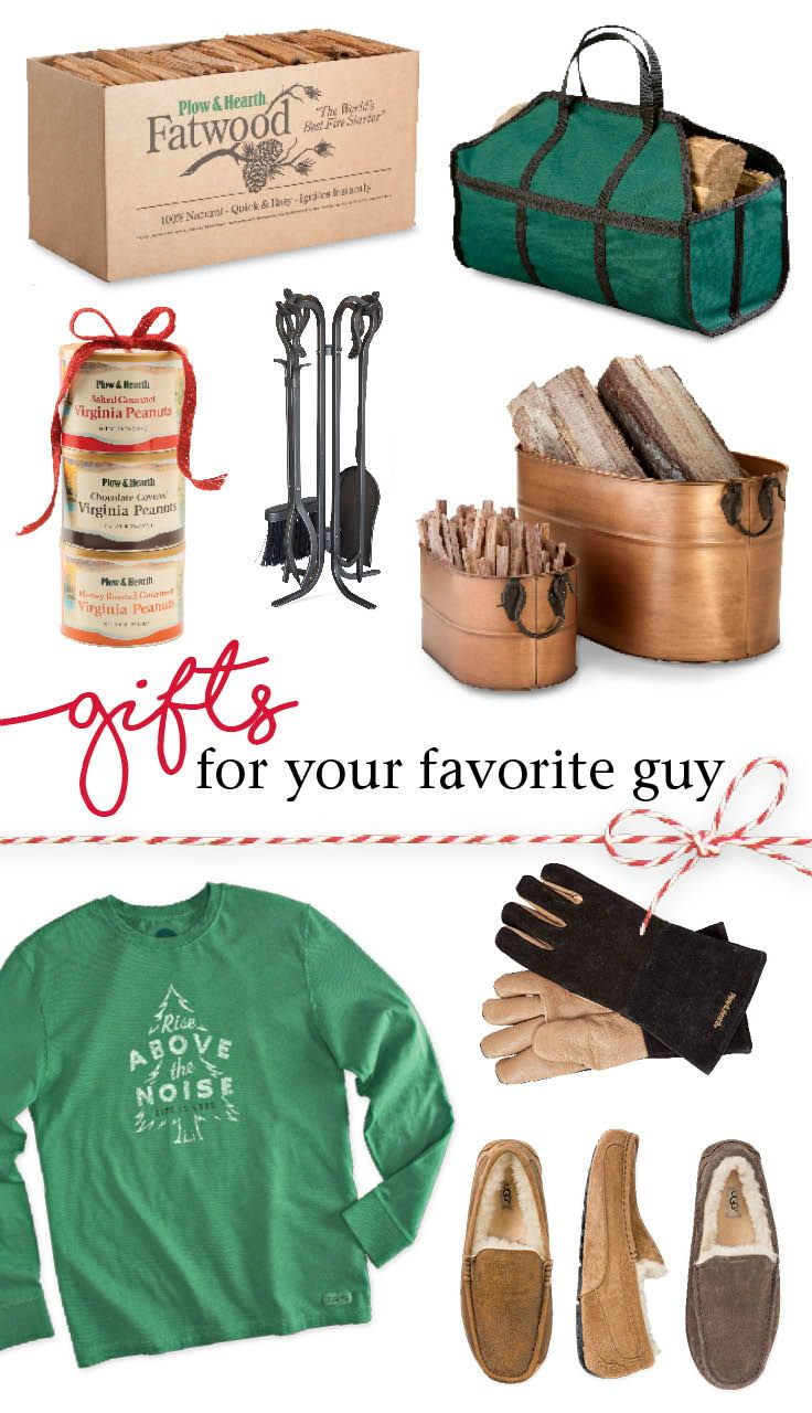 Get him the perfect gift! Shop our entire selection of unique ideas for the men in your life: Fatwood 10412, Log Carrier 1837, Peanut Trio 89289, Fireplace Tool Set 13787, Firewood Buckets 11694, Life is Good® 64C27, Fire-Resistant Gloves 13126, UGG® Slippers 71393