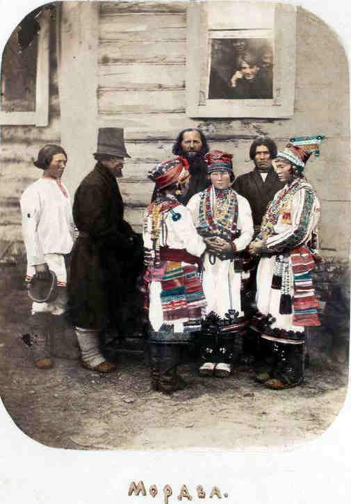 Мордва Пензенской губ. Рис. по фото Орлова, 1890.
