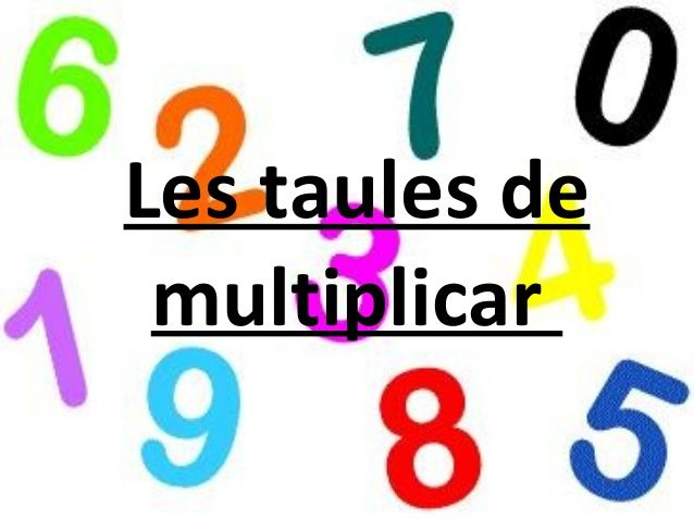 Image result for taules de multiplicar