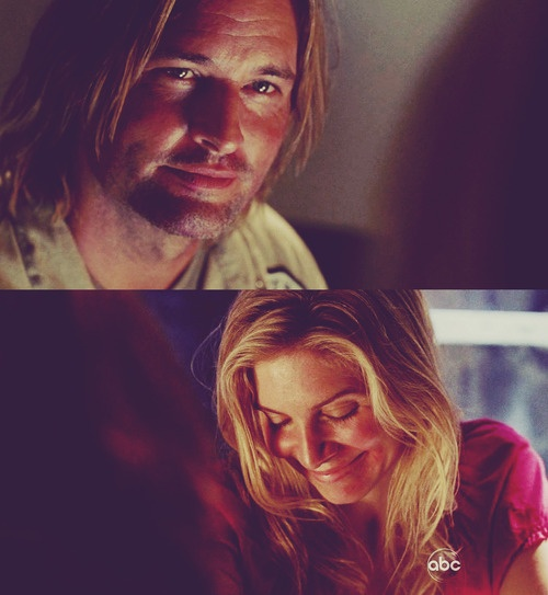 sawyer and juliet. #LOST I simply adore them. I used to prefer Jack/Juliet and Sawyer/Kate until I realised I hated Kate, worse female character ever, and Jack was about as entertaining as the rocks and not quite as pretty.