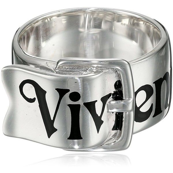 Vivienne Westwood Belt Ring ($250) ❤ liked on Polyvore featuring jewelry, rings, vivienne westwood ring, vivienne westwood jewelry, vivienne westwood jewellery and vivienne westwood