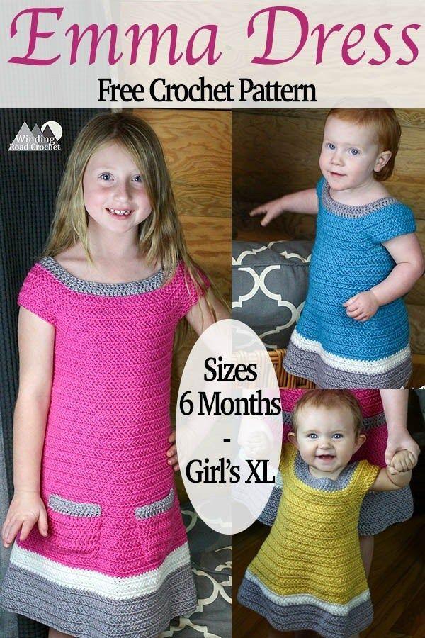 ca383c8f35 Emma Crochet Dress Free Pattern