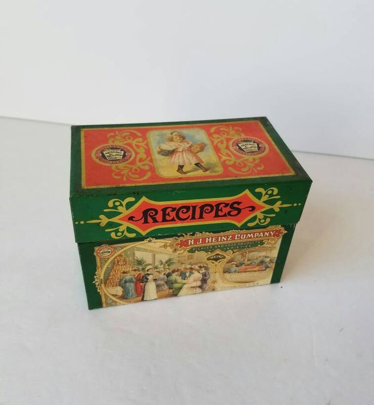 Vintage Metal Heinz Recipe File Box - Recipe Box - Index Card Organization - Metal File Box - Metal Card File - 1960s HJ Heinz by SissyBoomsPartyRoom on Etsy