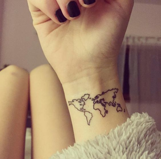 Map It Out - Dainty Wrist Tattoos for Women - Photos
