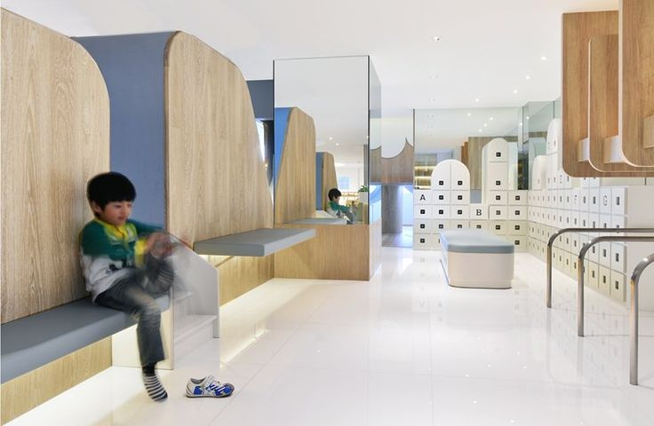Spring Early Childhood Centre in Hong Kong | seats, mirrors, bars