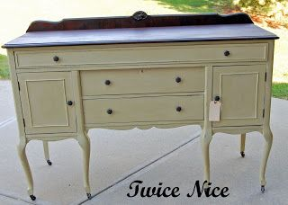 Twice Nice: Matchmaker, Matchmaker make me a match.  Annie Sloan paint in Versailles and the top is stained.