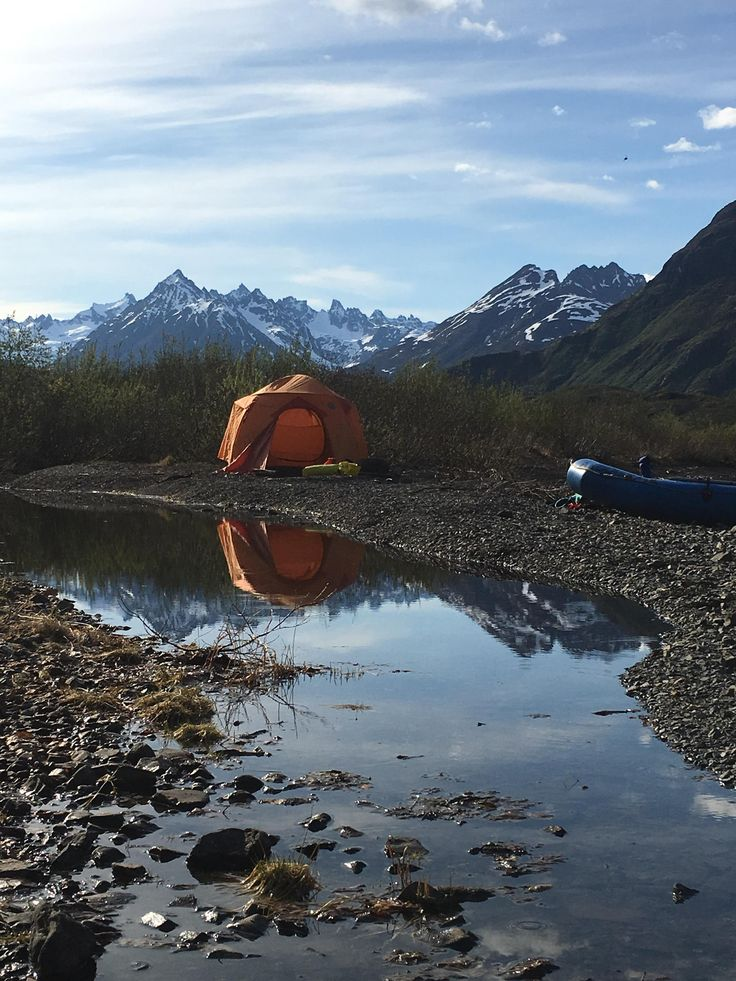 Woke up to this beautiful view and many more like it! Rafting Wood-Tikchick State Park Alaska: Lake Kulik to Beverley and Silver Horn! [OC][3024x4032] -Please check the website for more pics