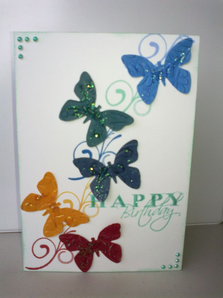 Simple card made with kaszazz punch and stamps.
