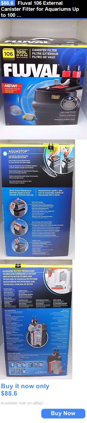 Animals Fish And Aquariums: Fluval 106 External Canister Filter For Aquariums Up To 100 L / 25 Us Gal BUY IT NOW ONLY: $88.6